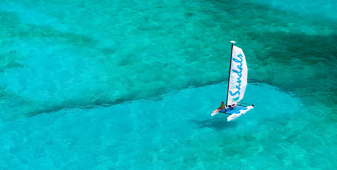Catamaran sailing at Sandals Royal Bahamian