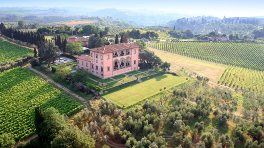 Places to Stay:  Hotel villa Mangiacane in romantic Tuscany