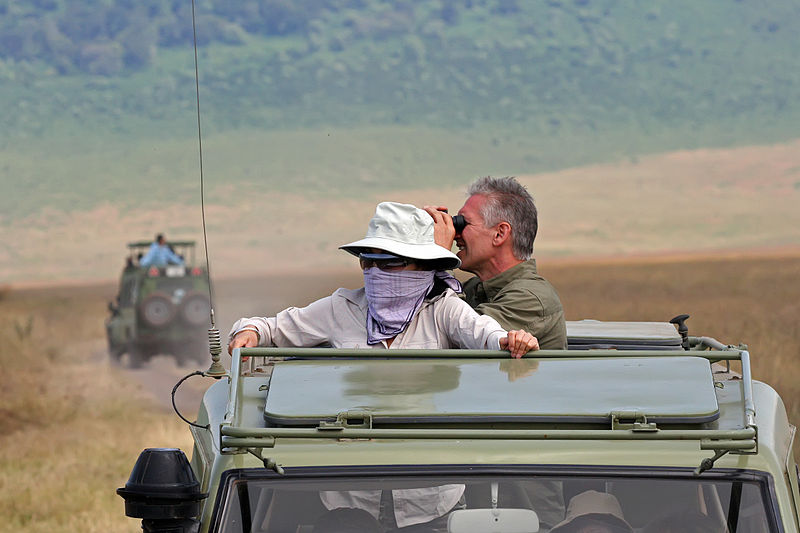 A safari in Tanzania, one of the world's exotic honeymoon destinations