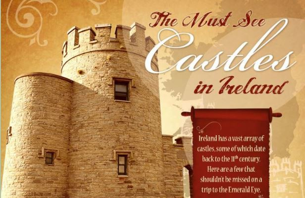 Must see Irish castles courtesy of the Ocean Sands Hotel in Co. Sligo, Ireland