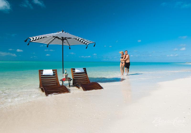 On the beach in Beaches Turks & Caicos