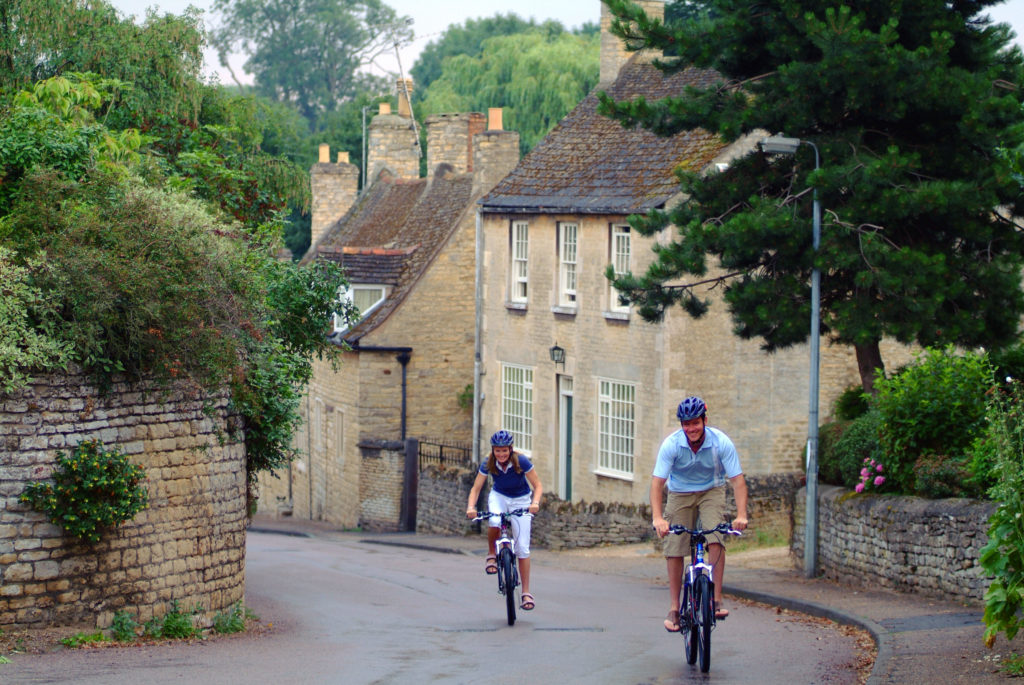 Cycling in the Cotswolds, one of England's lovely honeymoon destinations