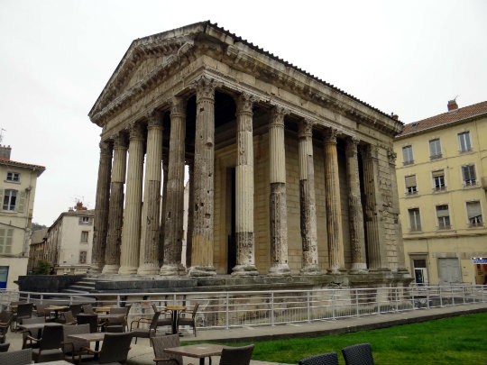 The Temple of Augustus and Livia in Vienne, France