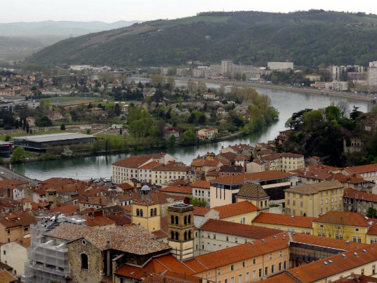 Panoramic view of Vienne, France