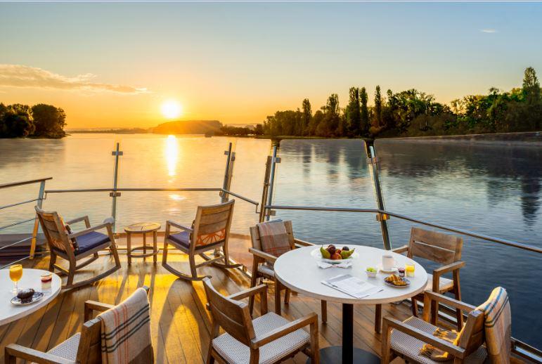 Viking River Cruises Aquavit Terrace at Dawn / Image: Viking River Cruises