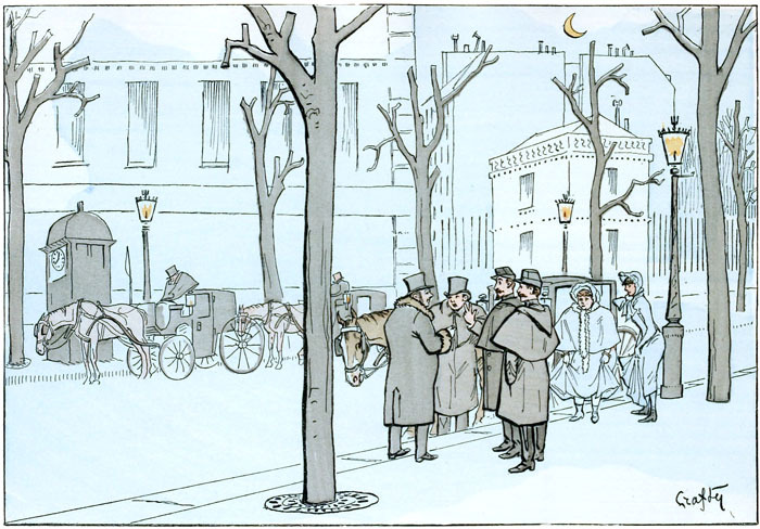 Vintage Paris illustration / Public Domain