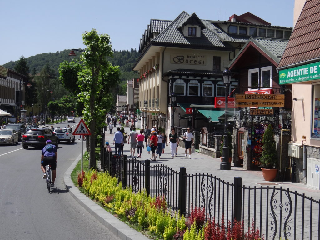 The town and mountain resort Sinaia in Romania