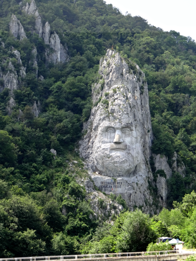The face of Decebalus, last king of the Dacian Empire (now Romania)
