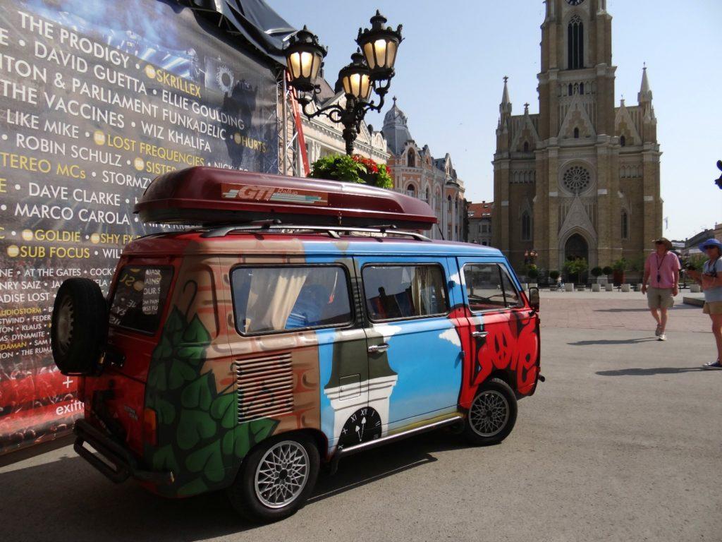 Cool-looking bus in Novi Sad, Serbia