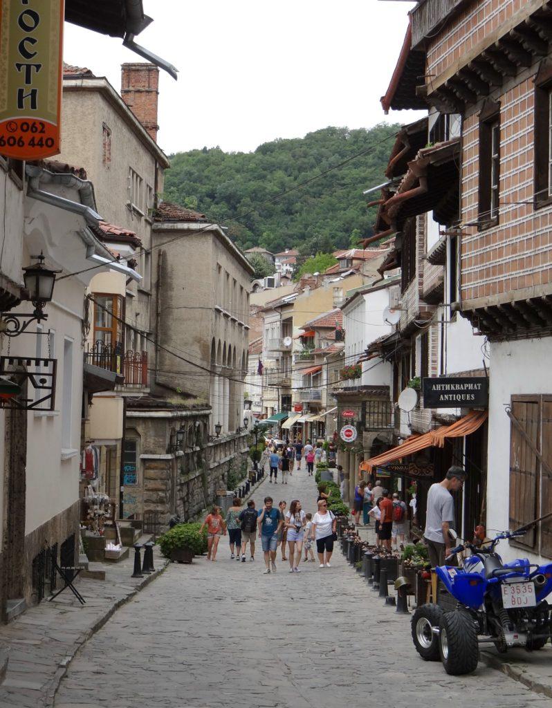 Shopping Street in Veliko Tarnovo, Bulgaria