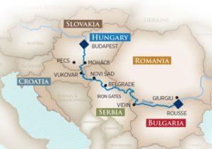 AmaWaterways Gems of Southeast Europe map / Courtesy of AmaWaterways