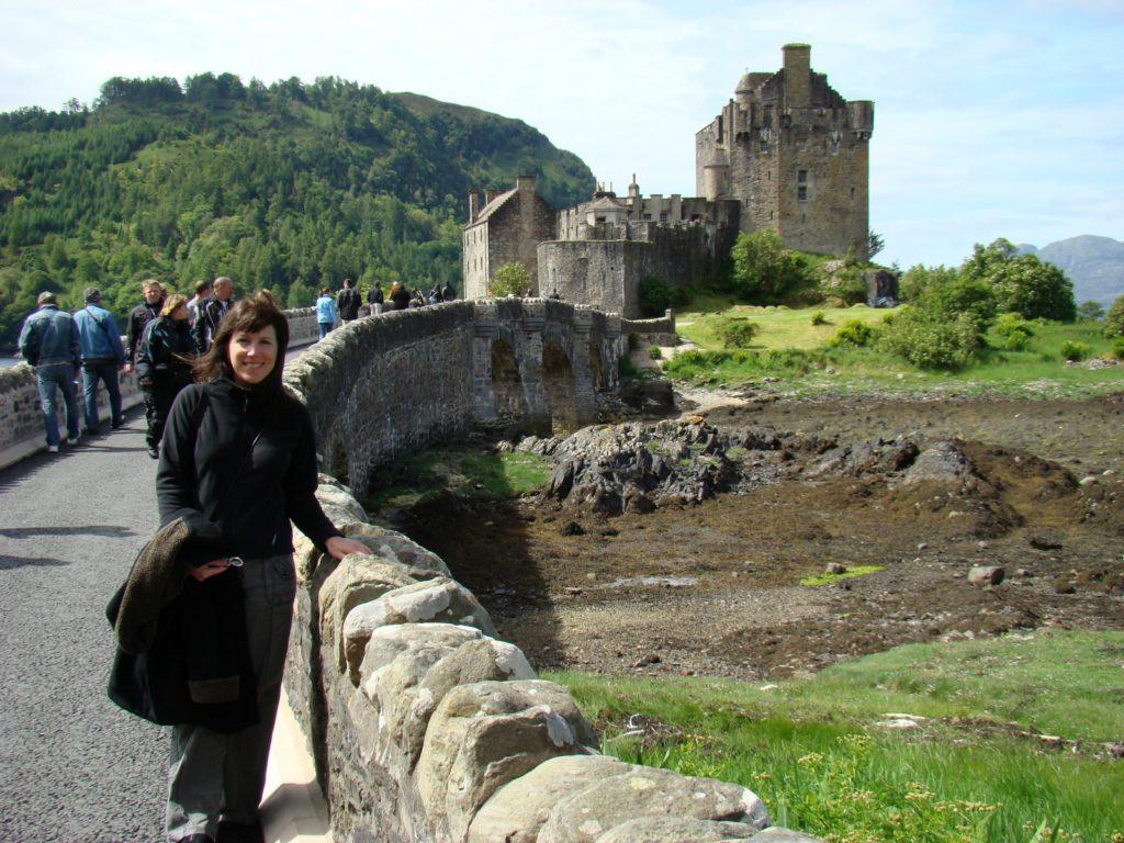 Melody at Eilean Donan Castle, Dornie, Kyle of Lochalsh, Scotland