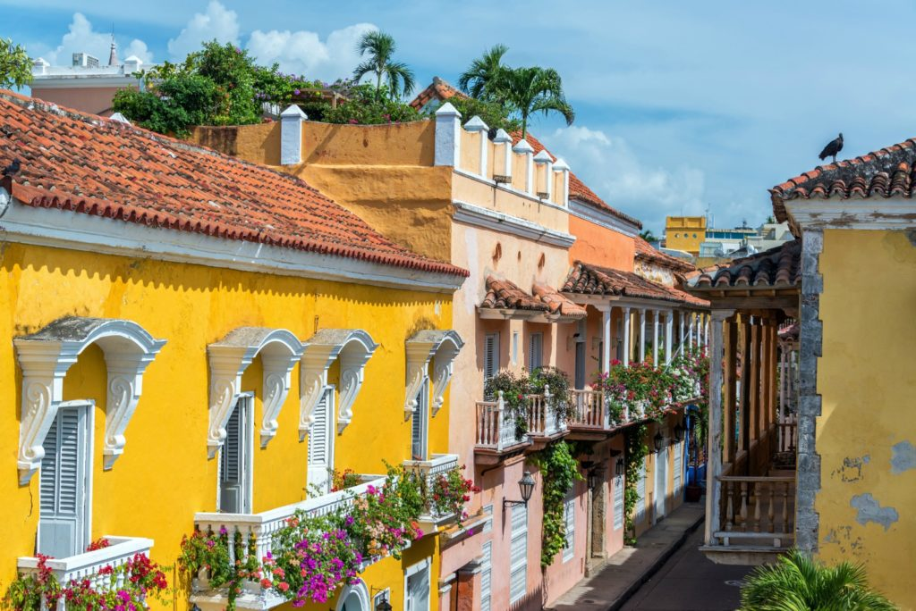 Colonial buildings and balconies in the historic center of Cartagena, Colombia / Jess Kraft, Shutterstock via Lonely Planet