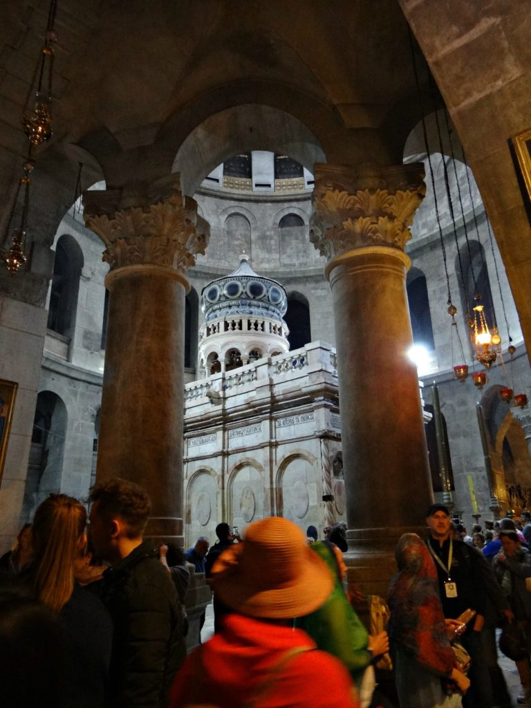 Inside the Church of the Holy Sepulcher / Melody Moser