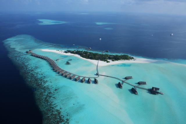Arrival jetty at night, COMO Cocoa Island, Makunufushi, South Male Atoll, Maldives / COMO Hotels and Resorts
