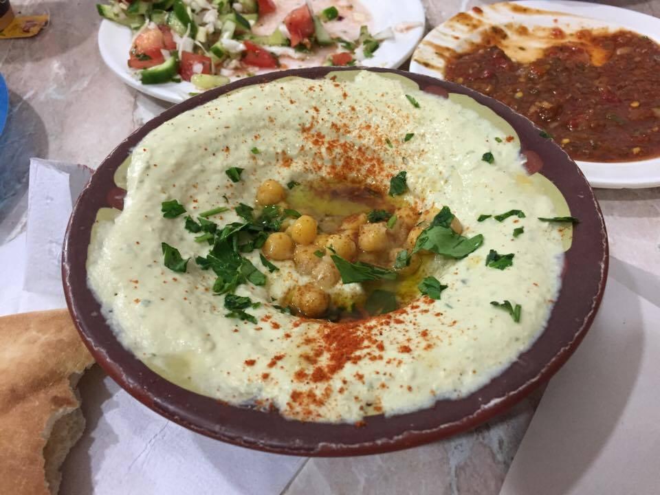 Hummus at Abu Shukri / Melody Moser