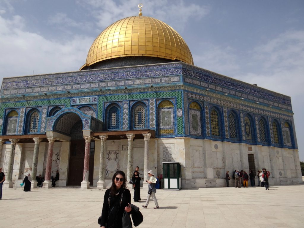 Melody in front of the Dome of the Rock, Temple Mount, Jerusalem / Melody Moser