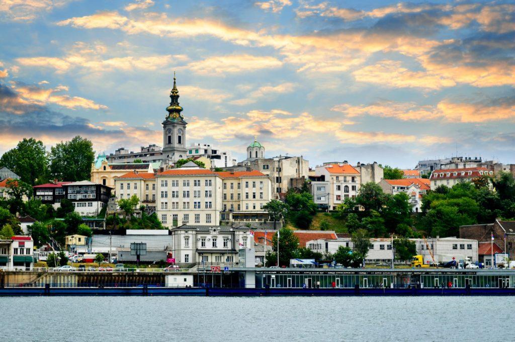 Belgrade cityscape on Danube