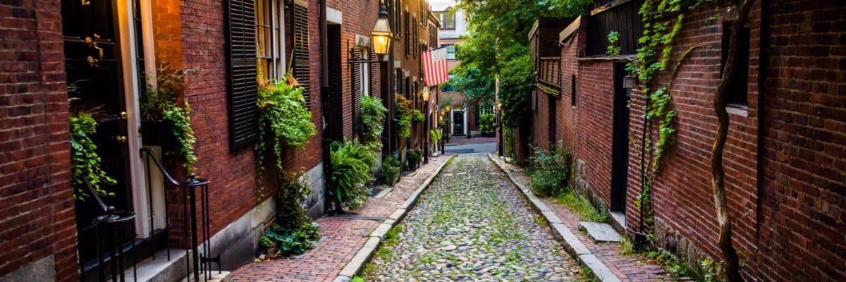 Acorn Street in Beacon Hill, Boston, Massachusetts by appalachianview