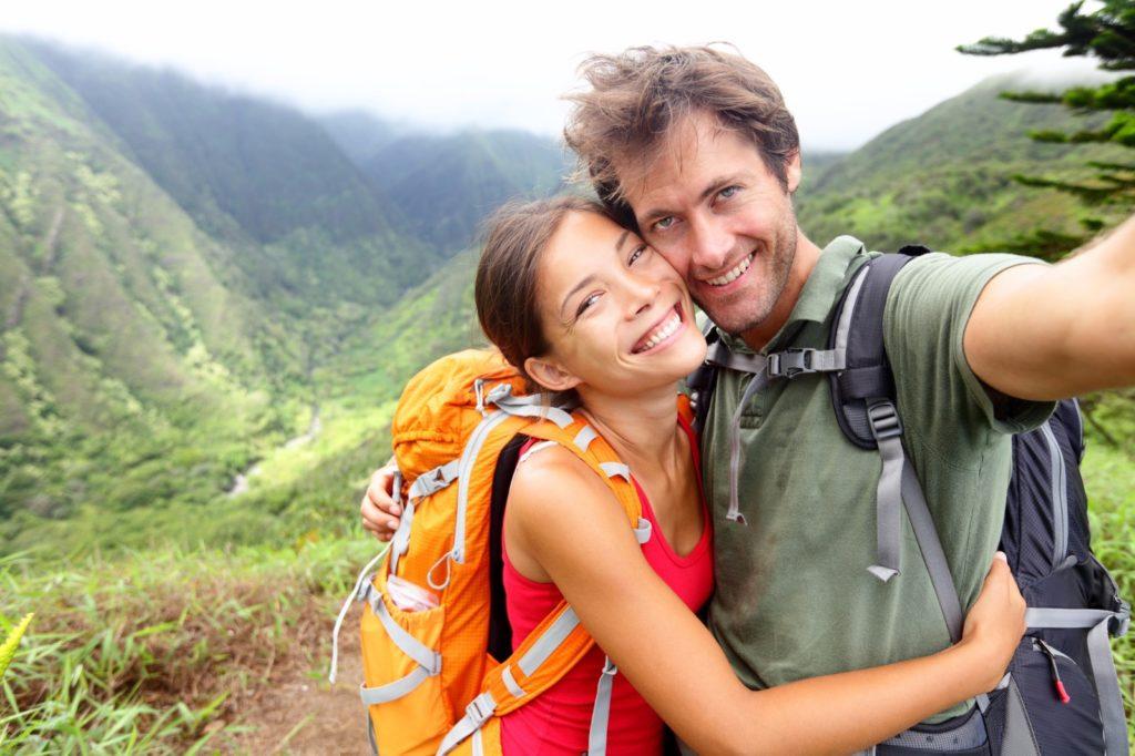 Couple taking a spiritual honeymoon or getaway / Image: Maridav, Deposit Photos