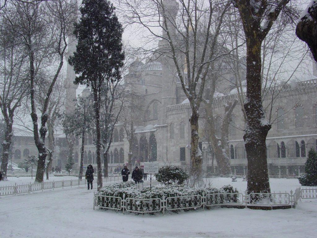 Istanbul with a light dusting of snow / Melody Moser