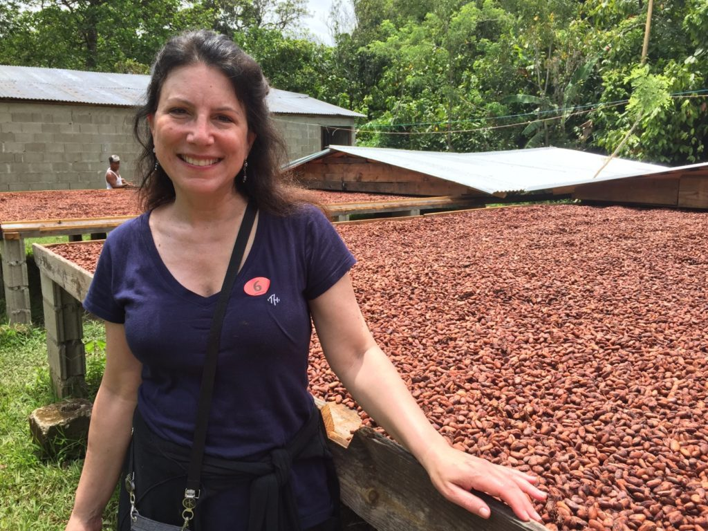Melody working at a chocolate co-op in the Dominican Republic / Melody Moser