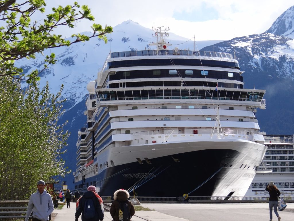 Holland American Line's the Nieuw Amsterdam docked in Alaska / Melody Moser