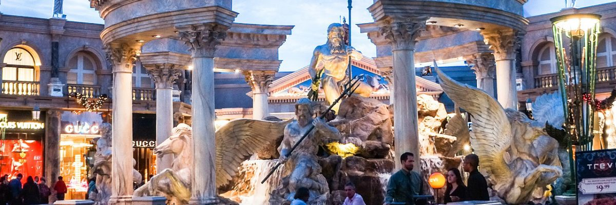 Fancy fountain at Caesars Palace, Las Vegas / Image courtesy of Caesar's Palace